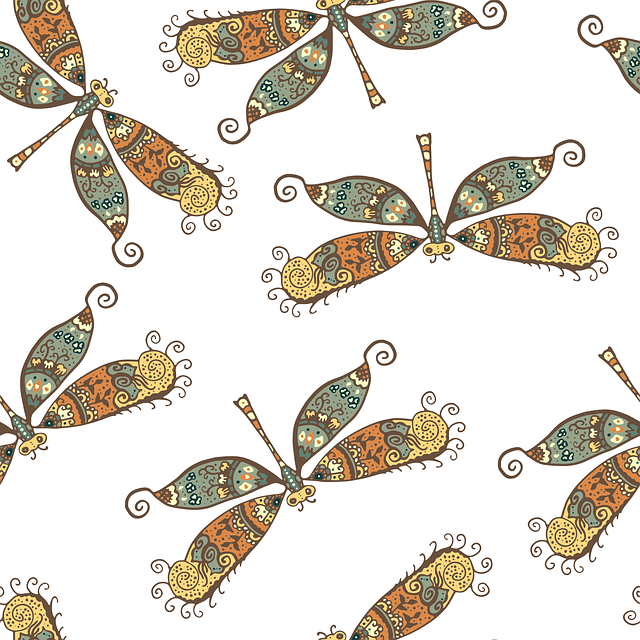 Pattern, Dragonfly, Background, Texture, Graphics