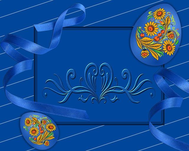Illustration, Blue Background, Background, Texture