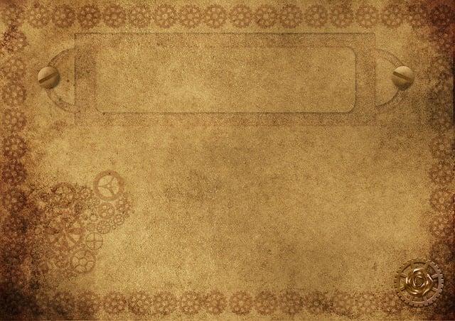 Background Image, Frame, Steampunk, Gears, Screw