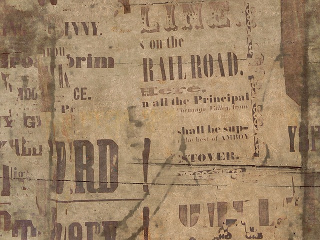 Background, News, Old Fashioned, Retro, Letters