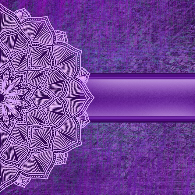 Background, Mandala, Purple, Ribbon, Flower, Grunge
