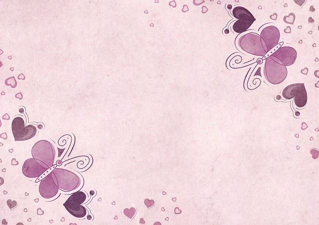 Background, Paper, Butterflies, Heart, Map, Pattern