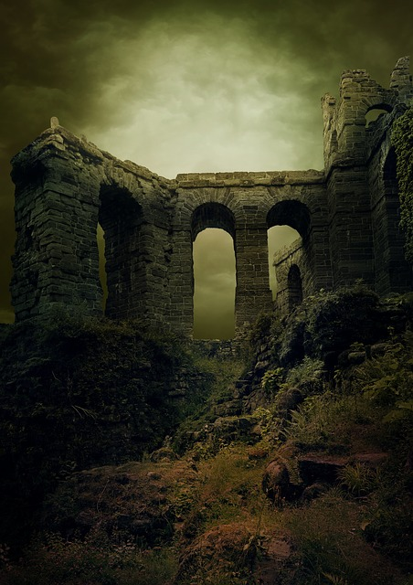 Background, Ruin, Castle, Middle Ages, Antique