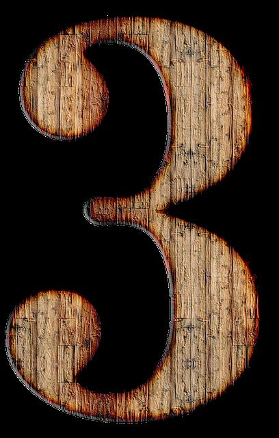 Number, 3, Three, Digit, Background, Scrapbooking