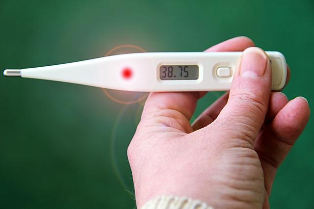 Thermometer, Fever, Number, Hand, Background, Green