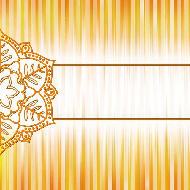 Background, Paper, Vintage, Orange, Mandala, Whirl