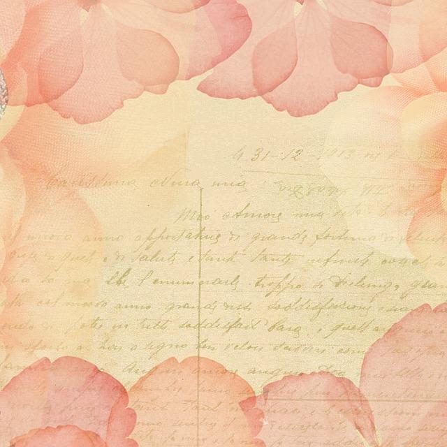 Scrapbook, Postcard, Background, Pink, Petals, Soft
