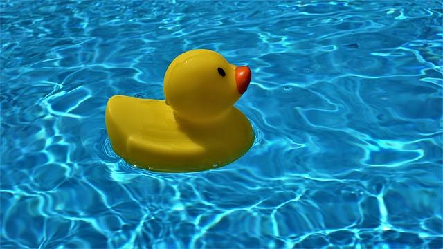 Pool, Background, Quietscheente, Water, Bath Duck