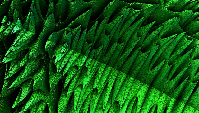 Fractal, Rendering, Background, Green, Graphic