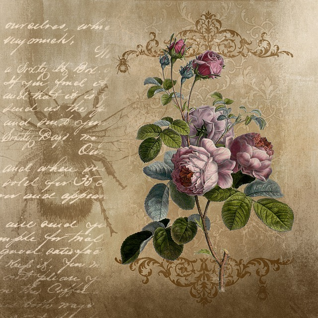 Background, Roses, Paper, Texture, Scrapbook, Flowers