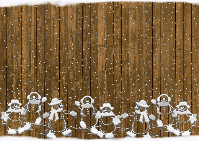 Christmas, Snowmen, Rustic, Snow, Background