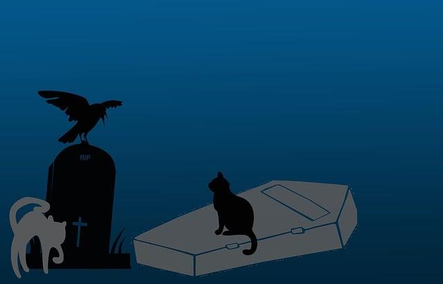 Haloween, Scary, Background, Cartoon, Dark, Blue, Grey