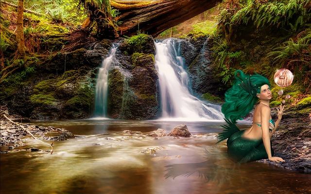 Mermaid, Fantasy, Siren, Fairy Tales, Background
