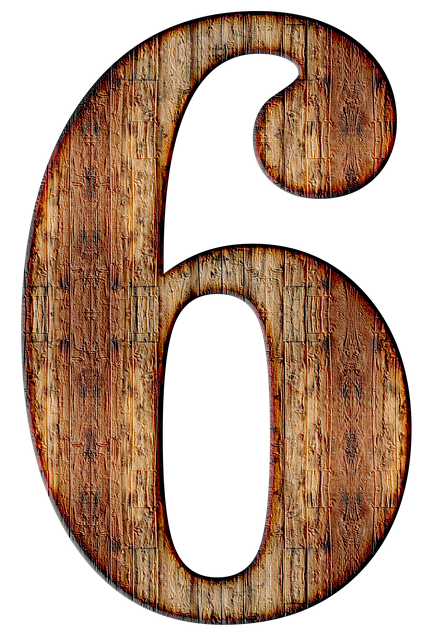 Number, 6, Six, Digit, Background, Scrapbooking