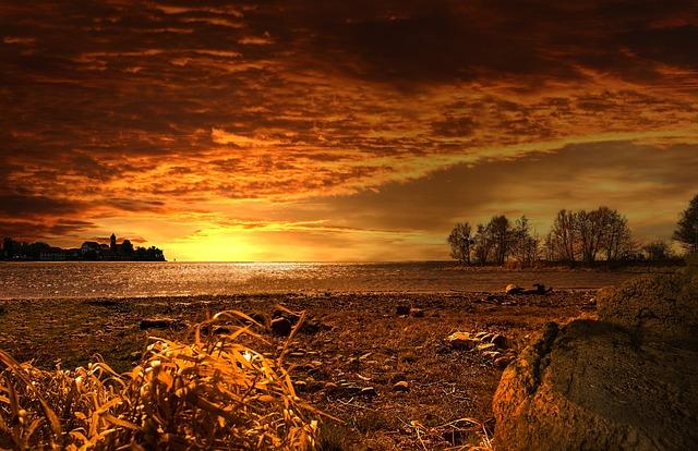 Sunset, Landscape, Nature, Background, Of Course, Mood