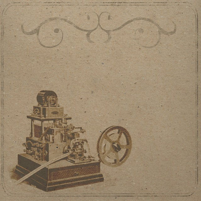 Background, Scrapbooking, Telegraph Machine, Vintage