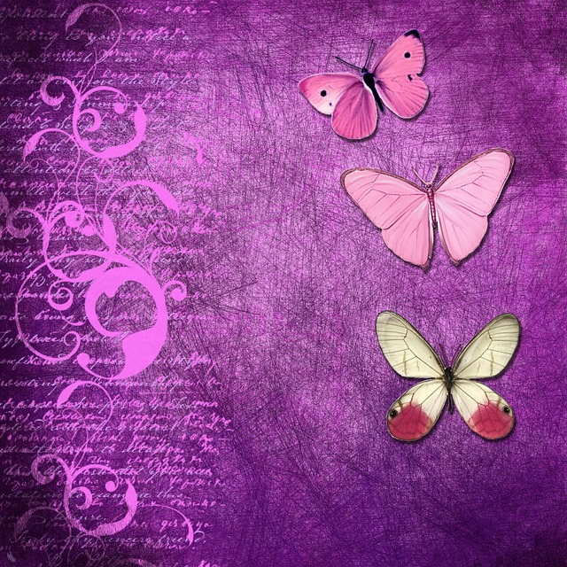 Background, Butterfly, Purple, Curl, Text, Grunge