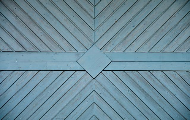 Garage Door, Texture, Wooden Wall, Panels, Background