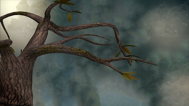 Tree, Sky, Clouds, Wood, Background, Kahl, Landscape