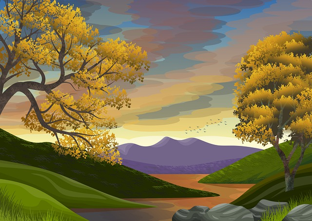 Illustration, Background, Wallpaper, Scenic, Vista