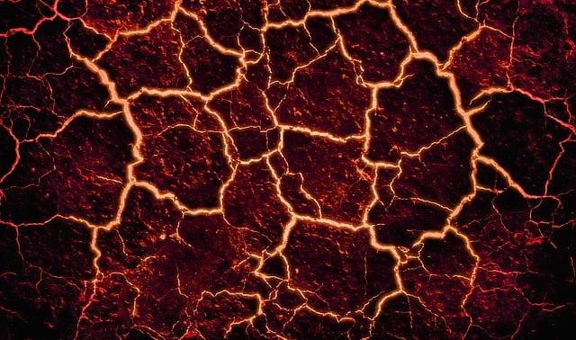 Lava, Cracked, Background, Fire, Volcano, Stone