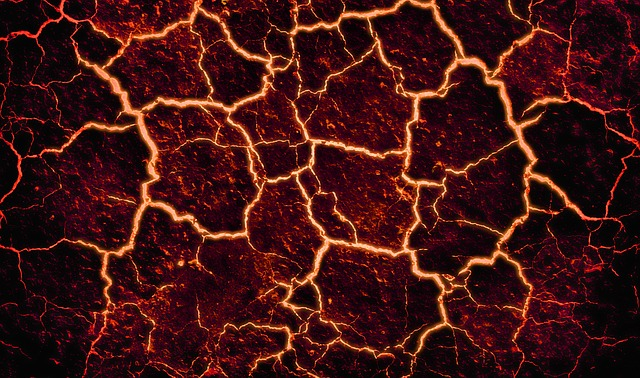 Lava, Cracked, Background, Fire, Volcano, Stone