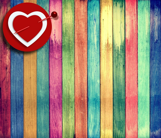 Wood, Old, Texture, Background, Heart, Colors