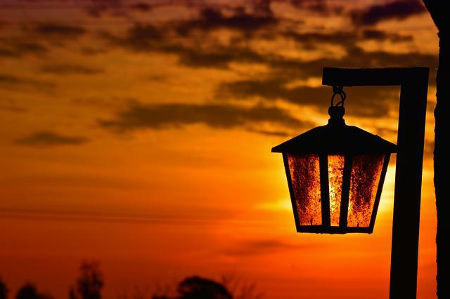 Lantern, Sunset, Lanterns, Backlight, Landscape