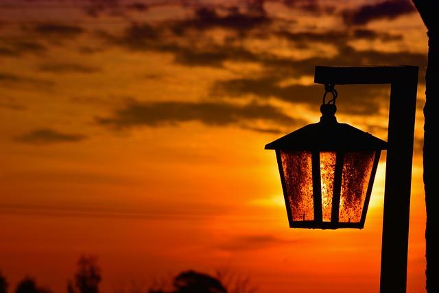 Lantern, Sunset, Lanterns, Backlight, Landscape