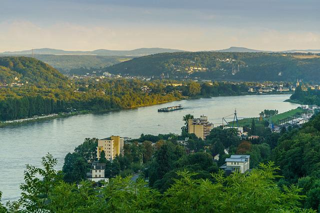 Rhine, Bad Honnef Germany, Siebengebirge, Viewpoint