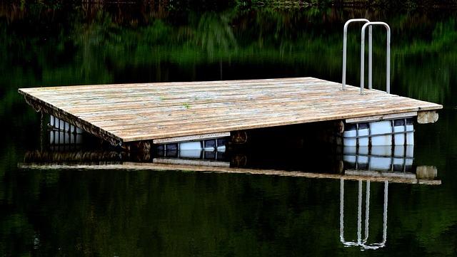 Island, Bathing Island, Raft, Badefloss, Lake, Water