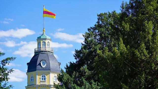 Karlsruhe Palace, Karlsruhe, Baden Württemberg, Germany