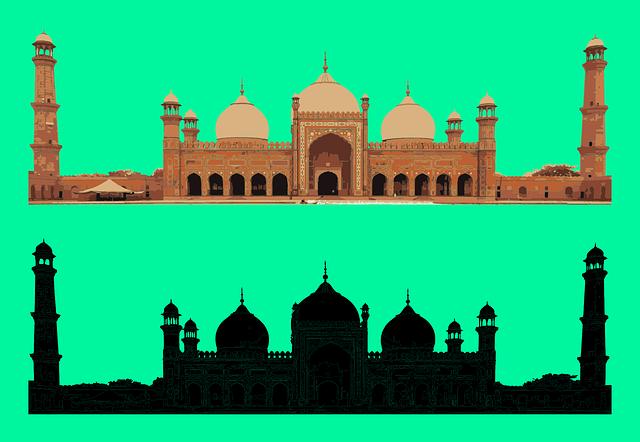 Badshahi Mosque, Mughal Era, Lahore, Punjab, Fort