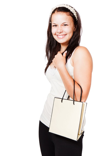 Bag, Buying, Carry, Customer, Cute, Female, Girl, Happy