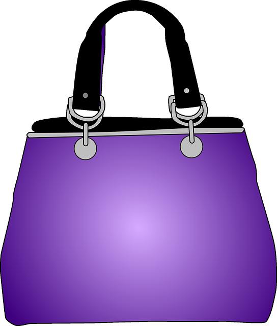 Handbag, Purse, Purple, Bag, Fashion, Female, Glamour