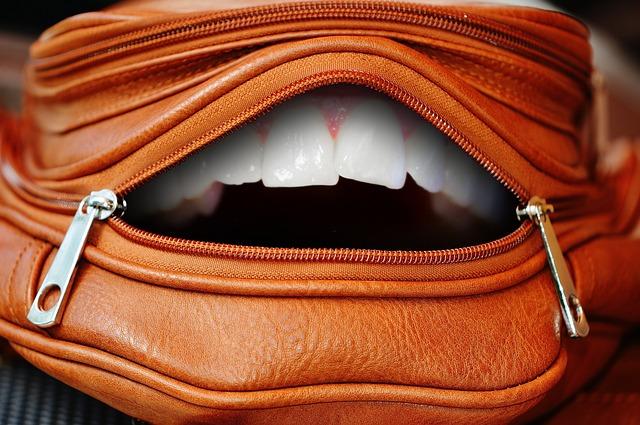 Bag, Zip, Tooth, White, Color, Closure, Open, Funny