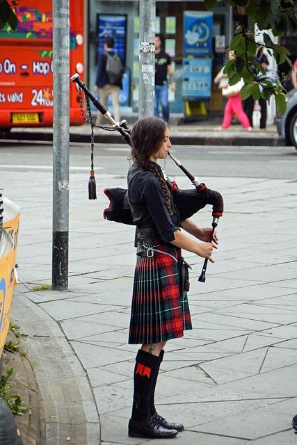 Scotland, England, Bagpipes, Bagpipe Spielerin, Girl