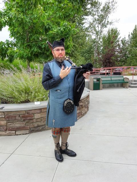 Bagpipe, Scottish, Kilt, Tartan, Culture, Traditional