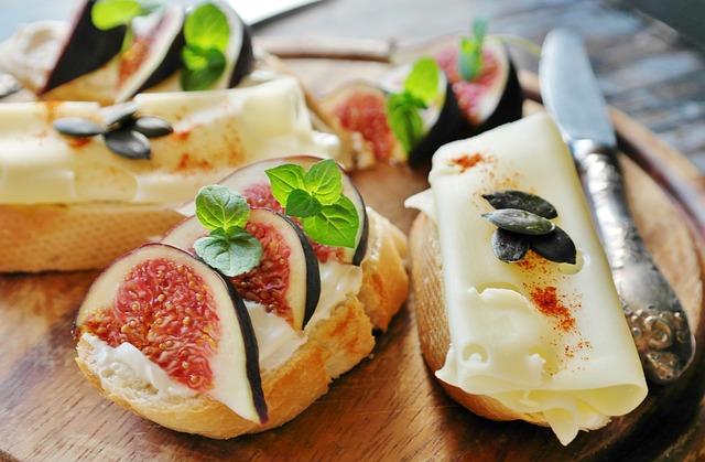 Fig, Cheese, Bread, Baguette, Eat, Healthy, Food