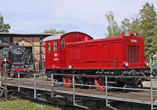 Museum, Kleindiesellok, Two Couplers, Bahnbetriebswerk