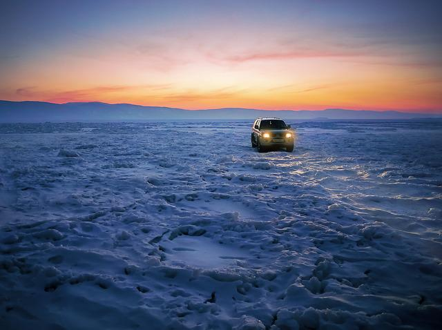 Baikalsee, Auto, Ice, Winter, Cold, Frost, Wintry