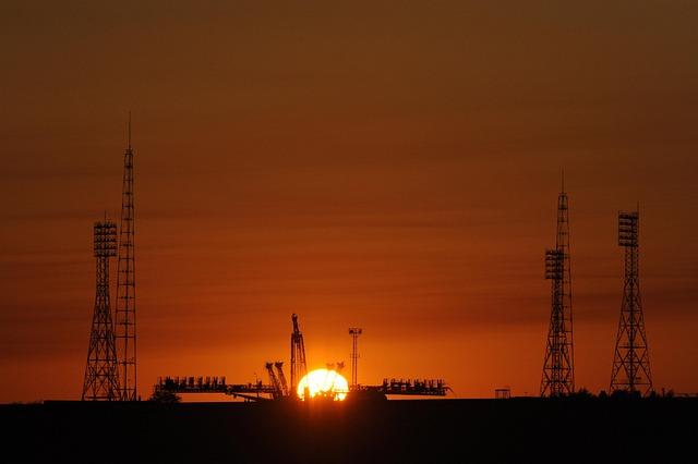 Baikonur, Russia, Cosmodrome, Soyuz, Launch Pad, Sunset