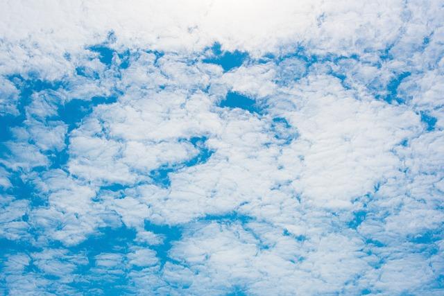 Clouds, Blue Day, Sky, Baiyun, Blue White-a Surname