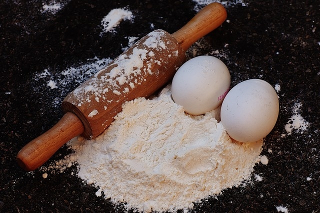 Bake, Rolling Pin, Egg, Flour, Ingredients, Prepare