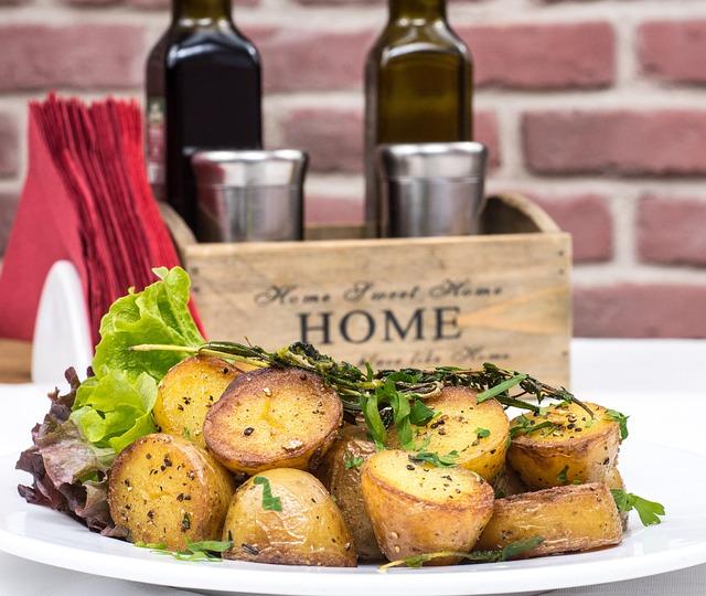 Baked Potatoes, Gourmet, Garlick Sauce, Food, Dinner