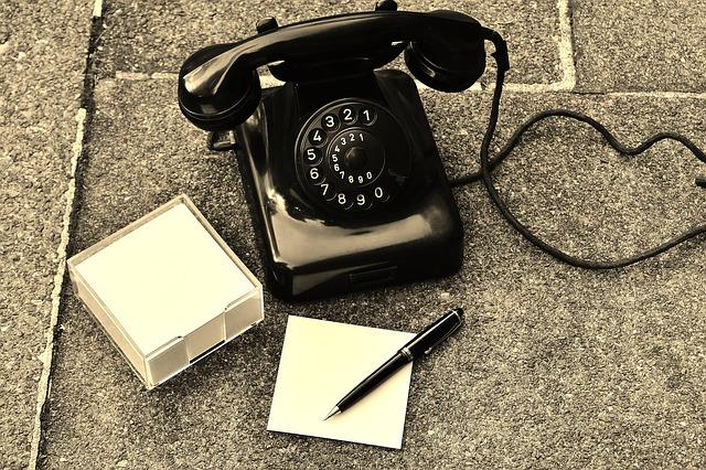 Phone, Old, Year Built 1955, Bakelite, Post, Dial