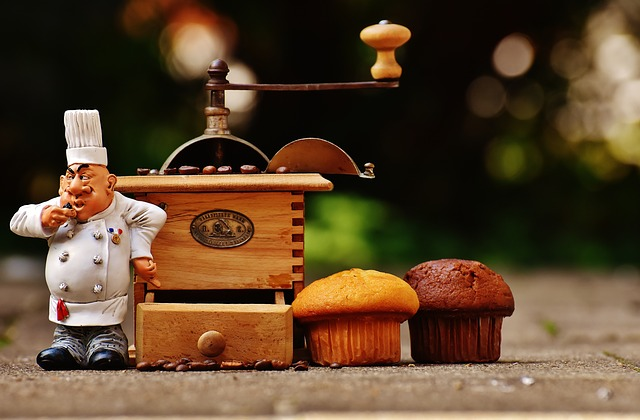Grinder, Muffin, Baker, Fig, Cake, Coffee, Coffee Beans