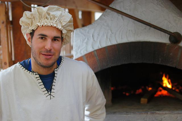 Baker, Man, Portrait, Oven, Costume, Head, Person, Look