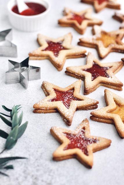 Cookies, Stars, Christmas, Pastry, Baking