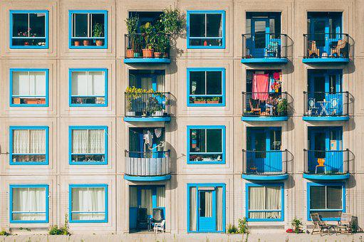 Apartments, Architecture, Balconies, Building, Facade